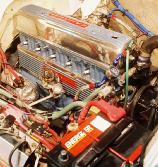 Chevy 235 c.i.d. 6 Cylinder.. partial assembly. CLICK FOR ENLARGEMENT
