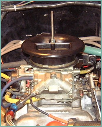 Stub Stack installed. NOTE: Base of air filter needs to be installed first, then the Stub Stack. This photo is only for a better illustration of how the Stub Stack fits to the carb.
