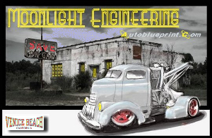 Custom design, fabrication, restoration-modification ( restomod ), sales and service of classic era General Motors vehicles by John Harlowe's Moonlight Engineering Automotive Fabrication and Design Company. Electrical system design, diagnosis and repair. ASE Master Automotive Technician.