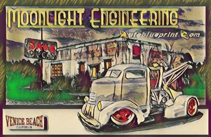 John Harlowe's Moonlight Engineering detailed body and paint photos page one for a customized RestoMod 1971 Chevrolet C-10 Shortbed Fleetside pick-up truck.
