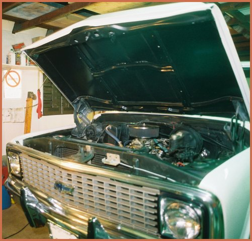 1971 Chevrolet C-10 Shortbed Fleetside pick-up truck currently has a slightly modified 350 cubic inch V8 engine with a modified Turbo Hydramatic 350 transmission and a 12 bolt rear end.
