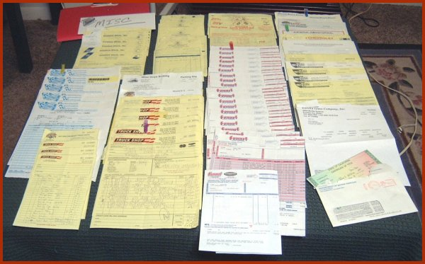 1971 Chevrolet C-10 pickup build receipts.