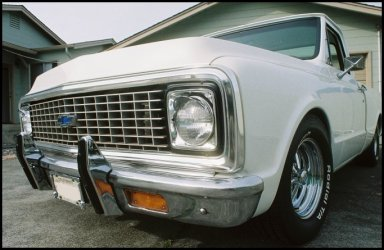CLICK PHOTO TO ENLARGE. 1971 Chevy C-10 Pickup Front to Rear Driver Side View.