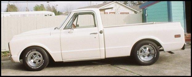 CLICK PHOTO TO ENLARGE.  1971 Chevy C-10 Pickup Driver Side View.
