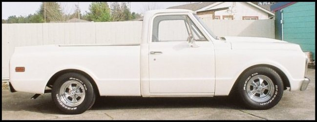 CLICK PHOTO TO ENLARGE. 1971 Chevy C-10 Pickup Passenger Side View.