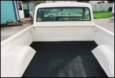 CLICK PHOTO TO ENLARGE.  1971 Chevy C-10 Pickup Bed Inner Wheel Housing View.