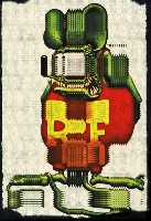 Rat Fink abducted by aliens and returned as an Android.