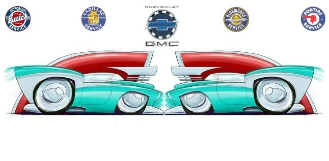 Custom design, fabrication, restoration-modification ( restomod ), sales and service of classic era General Motors vehicles by John Harlowe's Moonlight Engineering.