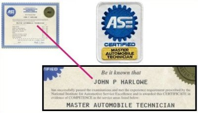 3rd Time Re-Certified ASE Master Automotive Technician.
