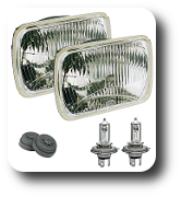 Hella 7 x 6 inch headlight conversion kit.